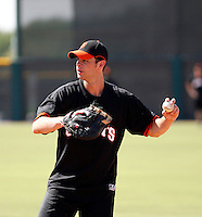 Brandon Belt - San Francisco Giants 2009 Instructional League. .Photo by:  Bill Mitchell/Four Seam Images..