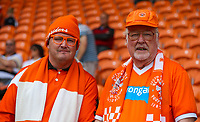 Blackpool fans await kick off<br /> <br /> Photographer Alex Dodd/CameraSport<br /> <br /> The EFL Sky Bet League One - Blackpool v Portsmouth - Saturday August 11th 2018 - Bloomfield Road - Blackpool<br /> <br /> World Copyright &copy; 2018 CameraSport. All rights reserved. 43 Linden Ave. Countesthorpe. Leicester. England. LE8 5PG - Tel: +44 (0) 116 277 4147 - admin@camerasport.com - www.camerasport.com