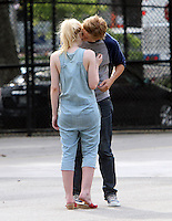 July 03, 2012 Dakota Fanning, Boyd Holbrook shooting on location for new movie for Very Good Girls in New York City.Credit:&copy; RW/MediaPunch Inc. *NORTEPHOTO*<br />
