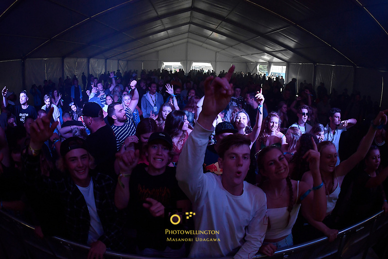 Cymbol performing at Jim Beam Homegrown, Wellington Waterfront, New Zealand on Saturday 7 April 2018.<br /> Photo by Masanori Udagawa. <br /> www.photowellington.photoshelter.com