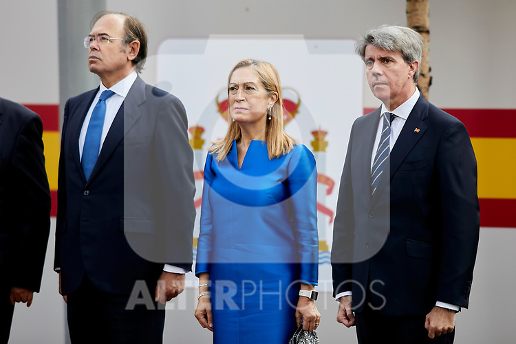 Ana Pastor attends to Spanish National Day military parade in Madrid, Spain. October 12, 2018. (ALTERPHOTOS/A. Perez Meca)