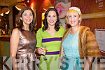 Pictured at Kerry Fashion Weekend Fashion Show on Friday night in the Carlton hotel, Tralee were l-r: Carol Kennelly, Tralee, Marie Loughran and Claire Murphy, Banna.