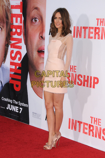 Rose Byrne<br /> &quot;The Internship&quot; Los Angeles Premiere held at the Regency Village Theatre, Westwood, California, USA.<br /> May 29th, 2013<br /> full length white cream sheer dress pink<br /> CAP/ADM/BP<br /> &copy;Byron Purvis/AdMedia/Capital Pictures