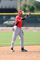 Billy Hamilton, Cincinnati Reds minor league spring training..Photo by:  Bill Mitchell/Four Seam Images.