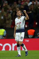 Harry Kane of Tottenham Hotspur celebrates scoring the second goal during Tottenham Hotspur vs PSV Eindhoven, UEFA Champions League Football at Wembley Stadium on 6th November 2018