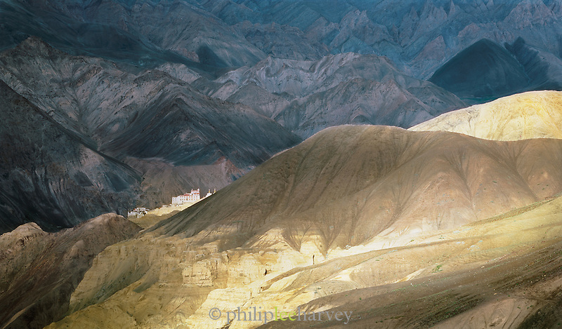 Lamayuru Monastery, a Tibetan Buddhist monastery in the mountains, Ladakh, India
