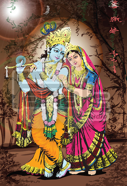Hindu god and goddess Radha-Krishna