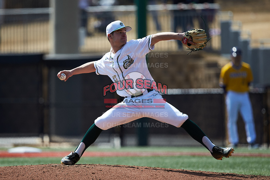 Charlotte 49ers starting pitcher Andrew Roach (37) in action against the East Carolina Pirates at Hayes Stadium on March 8, 2020 in Charlotte, North Carolina. The Pirates defeated the 49ers 4-1. (Brian Westerholt/Four Seam Images)