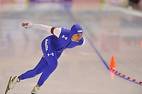 SPEEDSKATING: CALGARY: 15-11-2015, Olympic Oval, ISU World Cup, 1500m, Brittany Bowe (USA), world record: 1.51,59, ©foto Martin de Jong
