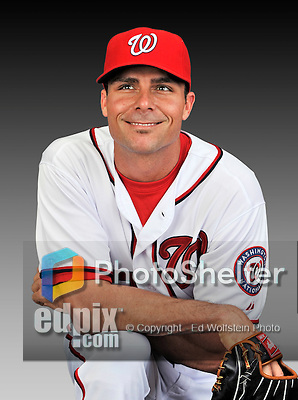 25 February 2011: Washington Nationals' outfielder Rick Ankiel poses for his Photo Day portrait at Space Coast Stadium in Viera, Florida. Mandatory Credit: Ed Wolfstein Photo