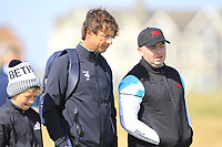 Neil Manchip (GUI) and Caolan Rafferty (GB&I) on the 14th during the preview at the Walker Cup, Royal Liverpool Golf CLub, Hoylake, Cheshire, England. 06/09/2019.<br /> Picture Thos Caffrey / Golffile.ie<br /> <br /> All photo usage must carry mandatory copyright credit (© Golffile | Thos Caffrey)