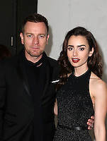 Los Angeles, CA - NOVEMBER 05: Ewan McGregor, Lily Collins at The 10th Annual GO Campaign Gala in Los Angeles At Manuela, California on November 05, 2016. Credit: Faye Sadou/MediaPunch