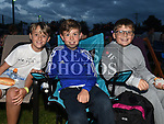 Dylan O'Hanigan, Eoin Johnston and Rory Tolan at the East Meath United outdoor Cinema night. Photo:Colin Bell/pressphotos.ie