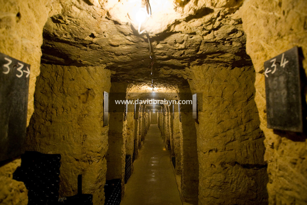 View of winemaker Daniel Jarry cellars in Vouvray, France, 26 June 2008.