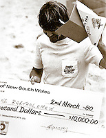 Wayne Rabbit Bartholomew (AUS), the winner of the 1980 Straight Talk Tyres event held at Cronulla Beach, Sydney, New South Wales Australia. Photo: joliphotos.com