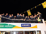 The Kerry senior and minor teams celebrate inn Killarney on Monday night.<br /> Picture by Don MacMonagle