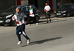 Palestinian and foreign competitors participate in Nablus marathon in - between checkpoints in the West Bank city of Nablus on April 20, 2018. Photo by Ayman Ameen