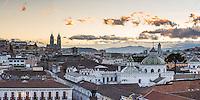 Old City of Quito, Historic Centre, showing La Basilica Church, Ecuador, South America