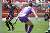Santa Clara, CA - Saturday, July 20, 2019: Benfica defeated Chivas 3-0 as part of the North America leg of the 2019 International Champions Cup at the Levi's Stadium in Santa Clara, California.