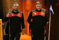 Blackpool's Jay Spearing and Blackpool's Oliver Turton arrive at todays match<br /> <br /> Photographer Rachel Holborn/CameraSport<br /> <br /> The EFL Sky Bet League One - Gillingham v Blackpool - Tuesday 6th November 2018 - Priestfield Stadium - Gillingham<br /> <br /> World Copyright &copy; 2018 CameraSport. All rights reserved. 43 Linden Ave. Countesthorpe. Leicester. England. LE8 5PG - Tel: +44 (0) 116 277 4147 - admin@camerasport.com - www.camerasport.com