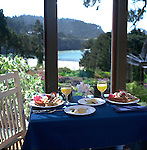 Breakfast by the beach at an inn in Mendocino, California