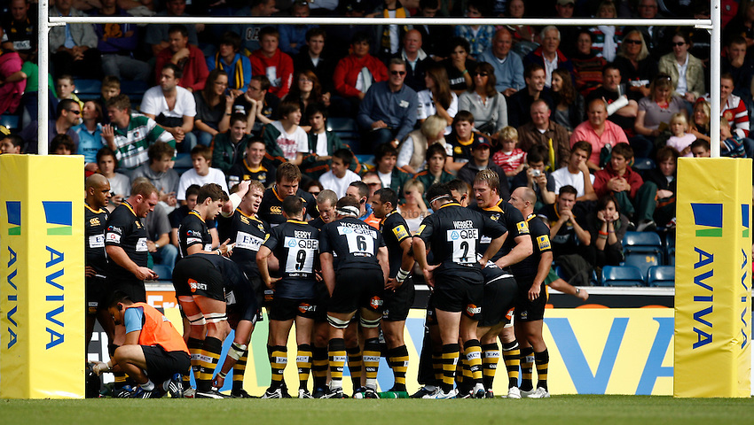 Photo: Richard Lane/Richard Lane Photography. London Wasps v Leicester Tigers. Aviva Premiership. 18/09/2010. Wasps players.