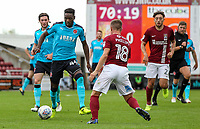 Fleetwood Town's Devante Cole breaks<br /> <br /> Photographer Andrew Kearns/CameraSport<br /> <br /> The EFL Sky Bet League One - Northampton Town v Fleetwood Town - Saturday August 12th 2017 - Sixfields Stadium - Northampton<br /> <br /> World Copyright &copy; 2017 CameraSport. All rights reserved. 43 Linden Ave. Countesthorpe. Leicester. England. LE8 5PG - Tel: +44 (0) 116 277 4147 - admin@camerasport.com - www.camerasport.com