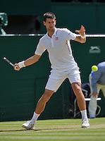 England, London, 27.06.2014. Tennis, Wimbledon, AELTC, Novak Djokovic (SRB)<br /> Photo: Tennisimages/Henk Koster