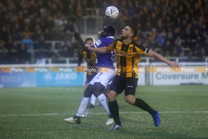 Jake Cassidy of Maidstone United in action during Maidstone United vs Oldham Athletic, Emirates FA Cup Football at the Gallagher Stadium on 1st December 2018
