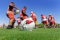 May 19, 2009; Tempe, AZ, USA; Arizona Cardinals players run during organized team activities at the Cardinals practice facility. Mandatory Credit: Mark J. Rebilas-