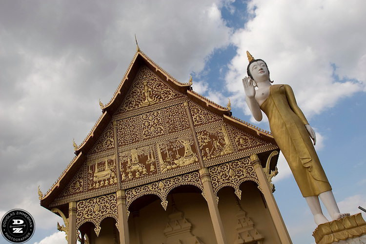 A temple located next to Pha That Luang, the Golden Stupa, in Vientiane, Laos. Photograph by Douglas ZImmerman.
