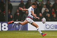 Ben Volavola of Bordeaux Begles during the European Challenge Cup match between Dragons and Bordeaux Begles at Rodney Parade, Newport, Wales, UK. 20 January 2018
