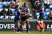 Semesa Rokoduguni of Bath Rugby celebrates his try with team-mates. Heineken Champions Cup match, between Wasps and Bath Rugby on October 20, 2018 at the Ricoh Arena in Coventry, England. Photo by: Patrick Khachfe / Onside Images