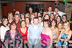 CHANGING JOBS: Stephen McGrath (front centre) surrounded by his work colleagues enjoying a last night out in Ruairi's bar, Tralee as he is leaving his job as drapery Manager in Dunnes Stores NCR, to head back home to the Capital to work in TK Maxx.   Copyright Kerry's Eye 2008