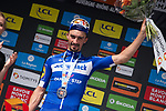 Julian Alaphilippe (FRA) Deceuninck-Quick Step wins Stage 6 of the Criterium du Dauphine 2019, running 229km from Saint-Vulbas - Plaine de l'Ain to Saint-Michel-de-Maurienne, France. 14th June 2019.<br /> Picture: Mario Stiehl/Radsport | Cyclefile<br /> All photos usage must carry mandatory copyright credit (© Cyclefile | Radsport/Mario Stiehl)