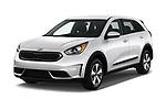 2017 KIA Niro FE 5 Door Hatchback Angular Front stock photos of front three quarter view