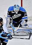 3 December 2011: University of Maine Black Bear goaltender Dan Sullivan, a Sophomore from York, PA, in third period action against the University of Vermont Catamounts at Gutterson Fieldhouse in Burlington, Vermont. The Catamounts fell to the Black Bears 5-2 in the second game of their 2-game Hockey East weekend series. Mandatory Credit: Ed Wolfstein Photo