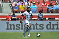 Santa Clara, CA - Sunday July 22, 2018: Harold Cummings during a friendly match between the San Jose Earthquakes and Manchester United FC at Levi's Stadium.