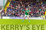 Padraig Boyle Ballyduff scoring a free to draw the County Senior Hurling Final at Austin Stack Park on Sunday.