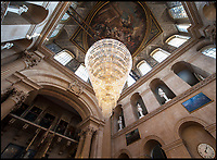 BNPS.co.uk (01202 558833)<br /> Pic: MarkHemsworth/BlenheimPalace<br /> <br /> The huge antlers were previously mounted  40ft up in the great hall.<br /> <br /> Elk &amp; Safety fears leads to staggering restoration.<br /> <br /> 8000 year old deer horns have been restored to their former glory at Blenheim Palace in Oxfordshire.<br /> <br /> The huge 10ft wide antlers came from an extinct species of Irish Elk, that are believed to have sported the largest antlers in deer history.<br /> <br /> They were collected by the 7th Duke of Marlborough from an Irish peat bog in the late 19th century.<br /> <br /> 'Following advice we decided to move the restored antlers from the Great Hall to a less lofty location in the Palace', said House Manager Kate Ballenger.<br /> <br /> 'Not only does this make them easier to view, it also eliminates the risk of 10st antlers being suspended 40ft above the visitors!'.