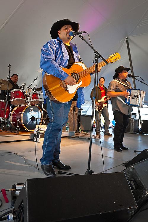 Max Baca and David Farias play hot Tex Mex music at the National Folk Festival in 2011