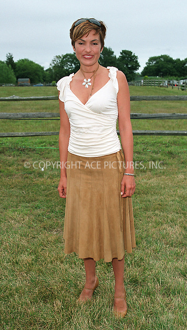 "Mariska Hargitay at the Fifth Annual ""Super Saturday"" designer sale and family event to benefit the ovarian cancer research fund. Water Mill, Long Island. July 27, 2002. Please byline: Alecsey Boldeskul/NY Photo Press.   ..*PAY-PER-USE*      ....NY Photo Press:  ..phone (646) 267-6913;   ..e-mail: info@nyphotopress.com"