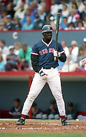 Boston Red Sox Mo Vaughn during Spring Training 1992 at Chain of Lakes Park in Winter Haven, Florida.  (MJA/Four Seam Images)