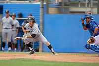Cal Poly San Luis Obispo Mustangs Dylan Doherty (1) in action against the UC-Riverside Highlanders at Riverside Sports Complex on May 26, 2018 in Riverside, California. The Cal Poly SLO Mustangs defeated the UC Riverside Highlanders 6-5. (Donn Parris/Four Seam Images)