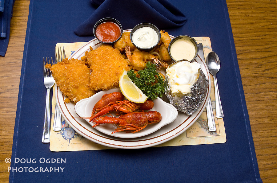 Sea Galley Food assignment shot on site. Seafood Plate