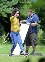 Pictured: Pearl Mackie Monday 27 June 2016<br /> Re: Dr Who filming in Cardiff, Wales, UK