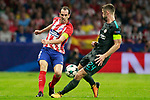 Atletico de Madrid's Diego Godin (l) and Chelsea FC's Gary Cahill during Champions League 2017/2018, Group C, match 2. September 27,2017. (ALTERPHOTOS/Acero)