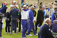 Jon Rahm (Team Europe) after the singles matches at the Ryder Cup, Le Golf National, Ile-de-France, France. 30/09/2018.<br /> Picture Fran Caffrey / Golffile.ie<br /> <br /> All photo usage must carry mandatory copyright credit (&copy; Golffile | Fran Caffrey)