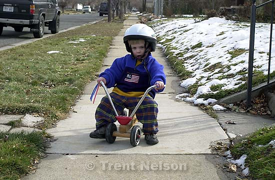 Nathaniel Nelson on a bike ride.<br />