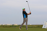 Joseph Byrne (Baltinglass) on the 1st tee during Round 1of the Flogas Irish Amateur Open Championship 2019 at the Co.Sligo Golf Club, Rosses Point, Sligo, Ireland. 16/05/19<br /> <br /> Picture: Thos Caffrey / Golffile<br /> <br /> All photos usage must carry mandatory copyright credit (© Golffile | Thos Caffrey)